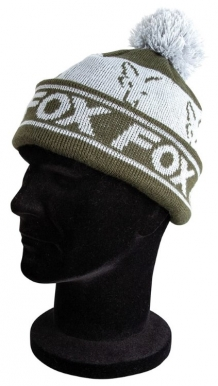 Green & Silver Lined Bobble Hat
