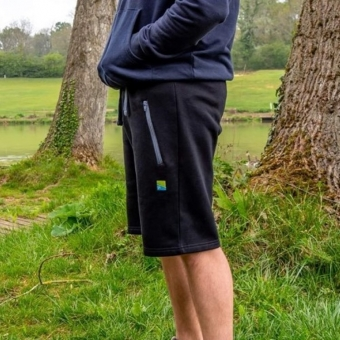 Preston Black Joggers Shorts