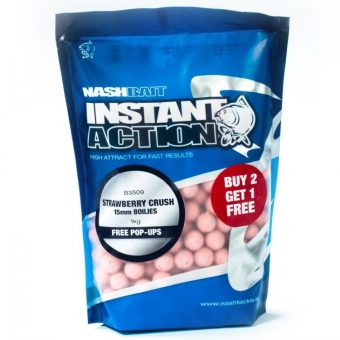 Nash Instant Action Strawberry Crush 15mm - 1KG